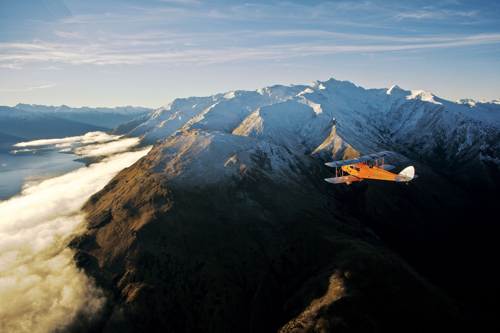 Rebuilt with modern materials but to old and exact specifications, the original Bert Mercer Fox Moth makes a crossing over the Southern Alps to revisit old haunts from 75 years ago. Of all heritage aircraft in New Zealand, ZK-ADI, the precursor of our entire airline industry, is perhaps the most venerated.