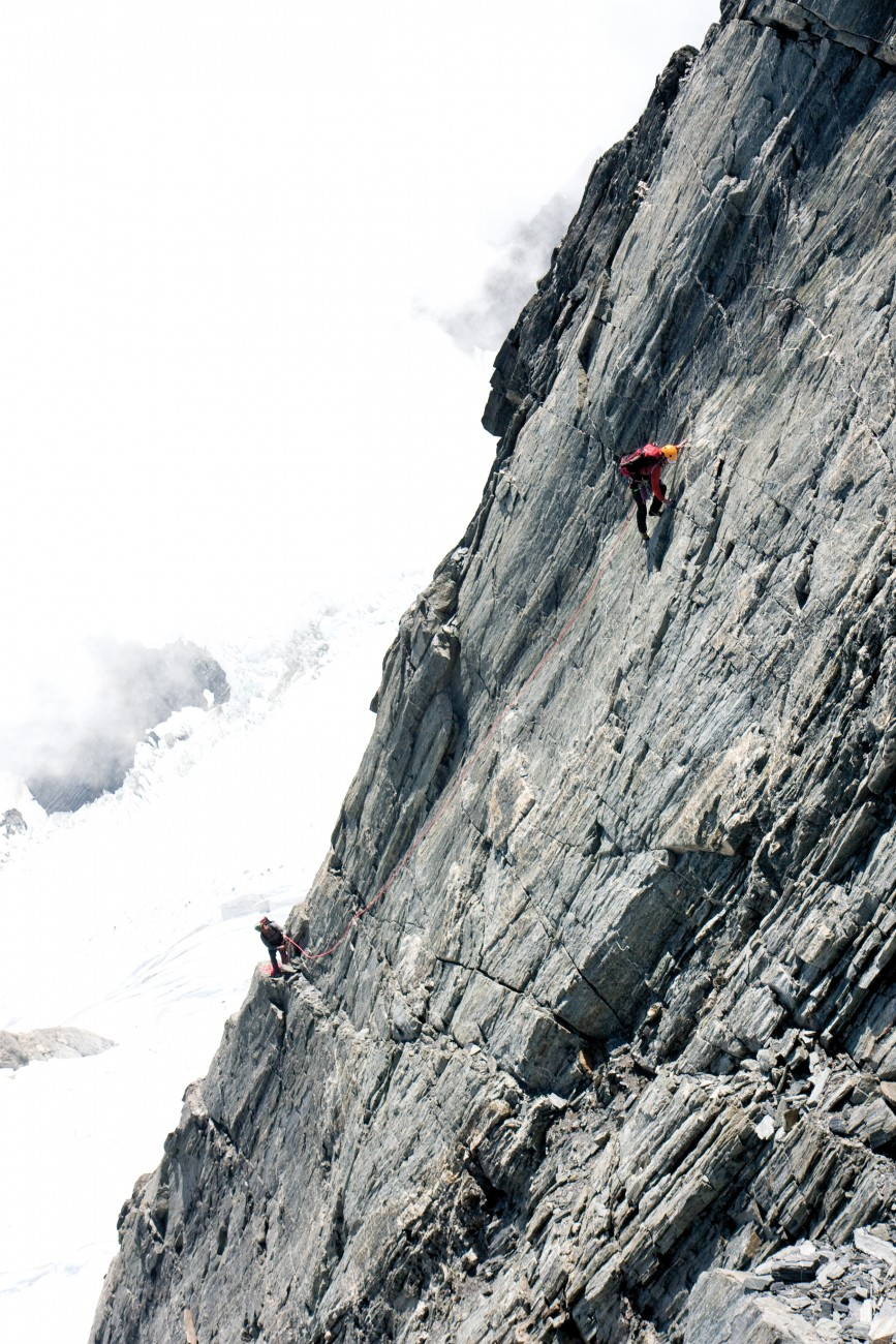 A life spent, literally, on the edge. While most 'sane' people couldn't think of anything worse, climbers crave the steep and intimidating. A rock shelf half a metre wide is considered commodious.