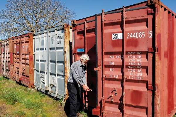 Shipping containers on the Pegasus boundary hold tens of thousands of artefacts gleaned from what archaeologist Dan Witter (above left) describes as the oldest known pa site in the South Island and the largest greenstone-working location in the country.