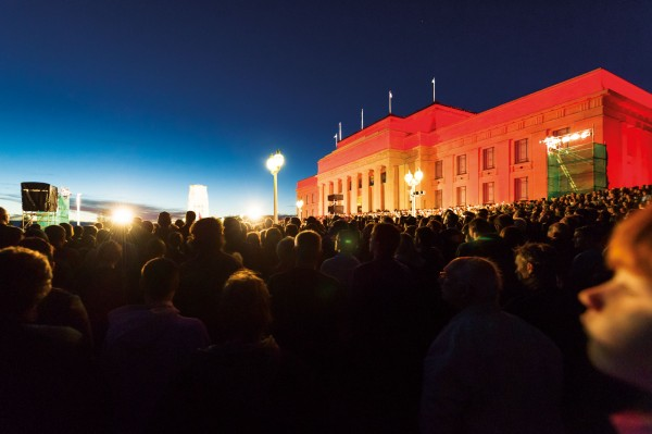 Dawn breaks on Anzac Day, when over 10,000 people gather at the Cenotaph in front of the Auckland War Memorial Museum. The museum itself is built on a site once known to Maori as Pukekawa, or 'hill of bitter memories', in reference to tribal conflicts that once took place there. Marking another conflict, soldiers march to the Cenotaph in the last ever Beating Retreat of the 24 New Zealand Infantry Battalion Association, established in 1947 as a way for the Auckland battalion's members to stay connected. It was finally disbanded in 2012.