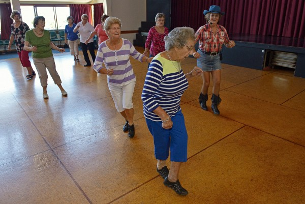 Annette Kennedy teaches line dancing for seniors at the Blockhouse Bay Community Centre. In 25 years, every one of the baby boomer generation will be over 70 and the proportion of elderly in our cities higher than ever before. Activities that keep older people active and socially engaged into old age are critical for their wellbeing and social cohesion.