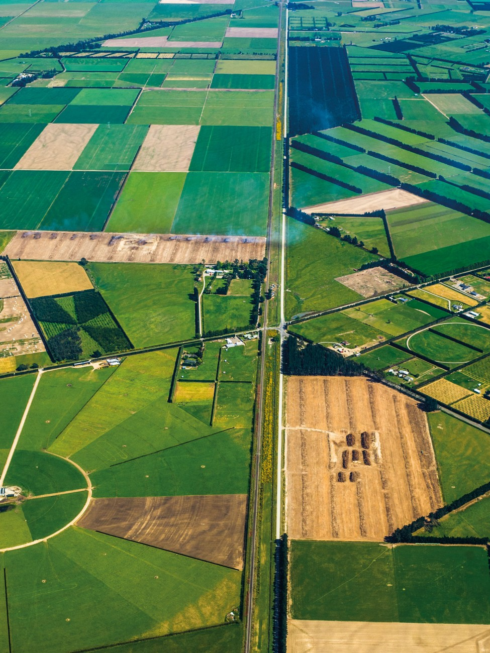 Like a jigsaw puzzle, the Canterbury Plains are a patchwork of farming systems and irrigation technologies. Since the late 1970s, the area of irrigated farmland has doubled every 12 years, most notably on the plains, now the largest irrigated area in New Zealand. In dry regions, irrigation can triple the output of a given area of land and make activities such as dairying possible even in the semi-arid Mackenzie Basin.