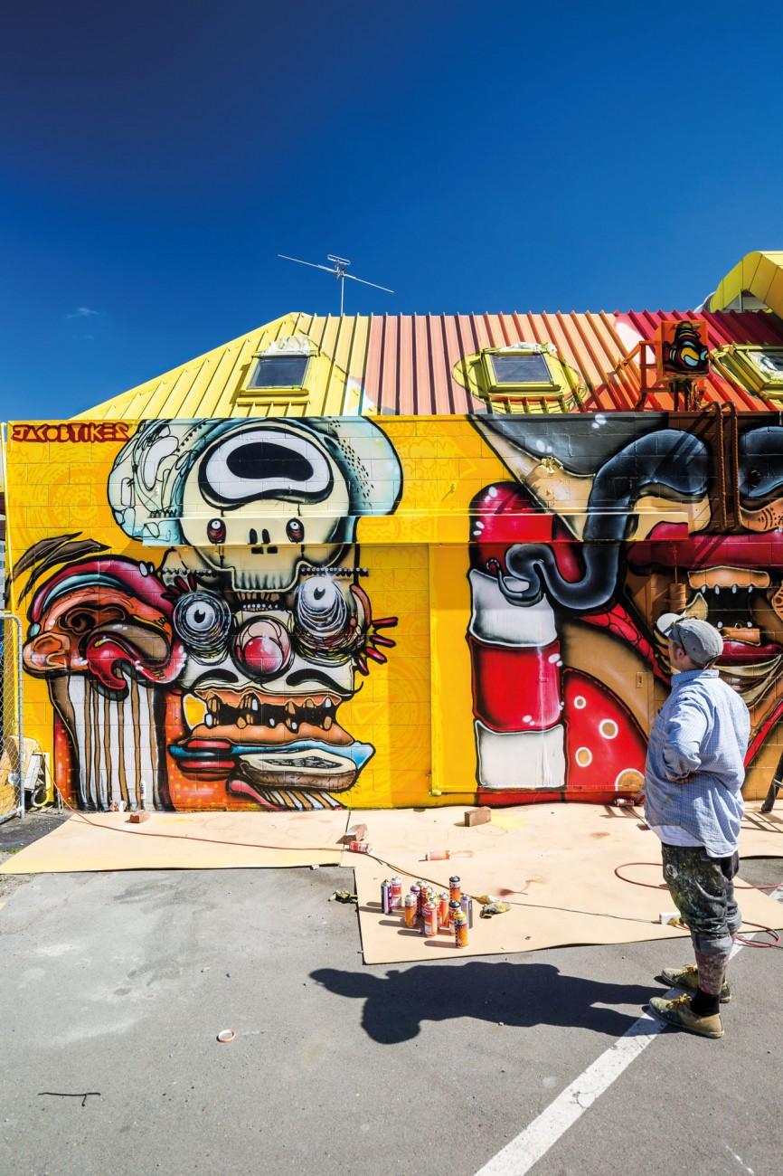 Graffiti wall christchurch - Artist Jacob Yikes Ryan Surveys His Trio Of Mad Mexicans A