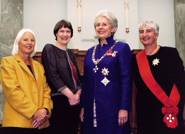 New Zealand, the first country in the world to give women the vote, now has a unique concentration of women at the helm of the ship of state. This photograph, taken at the swearing-in ofDame Silvia Cartwright as governor-general in April 2001, shows (from left) Margaret Wilson (attorney general), Helen Clark (prime minister), Dame Silvia and Dame Sian Elias (chief justice). The leader of the opposition is also a woman.