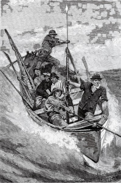 "The ""Nantucket sleigh ride""—a wild glissade behind a fleeing whale—must have been an exhilarating, if not terrifying, experience for whaleboat crews. That the boats stood up to this sort of treatment is testimony to the soundness of their design."