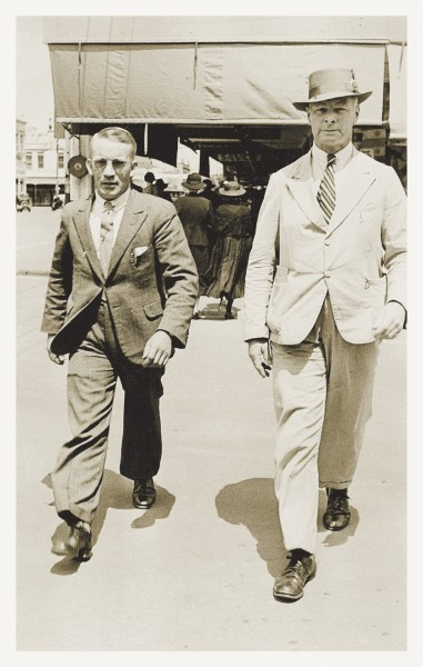 "Cook's efforts at Eastwoodhill were heavily dependent on his assistant, Bill Crooks (left), who arrived in 1927 and remained for the next 47 year. Cook, who was physically larger than Crooks, and sharp-tounged to boot, referred to himself and Bill as ""a man and a boy."""