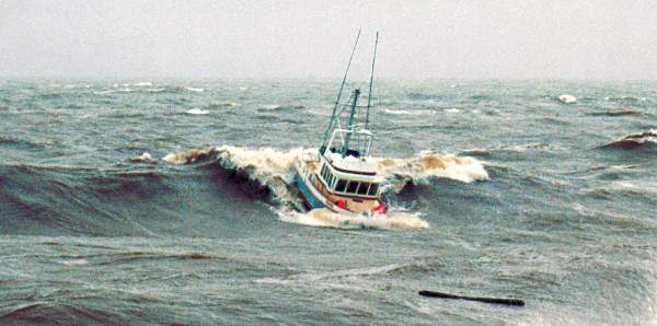 In anything but the calmest weather, a bar crossing is not to be taken lightly, says the Maritime Safety Authority. Air in breaking water reduces buoyancy, and as a wave ploughs past a boat, steering is often lost since rudder and surrounding water are both moving a similar speeds. The FV Katana broach while crossing the Grey River bar, but did not capsize. She was fortunate. Had as little as two tonnes of water got into Katana's cabin or hold through broken windows or poorly secured hatches, she would likely have foundered, as the weight of water would have prevented her righting before the next wave rolled her.