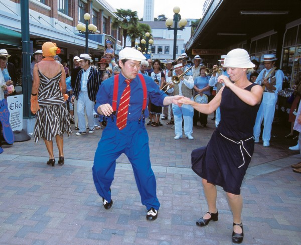 The Twilight Toe Tap, in which dancers gitterbug to the tunes of the Twin City Stompers.