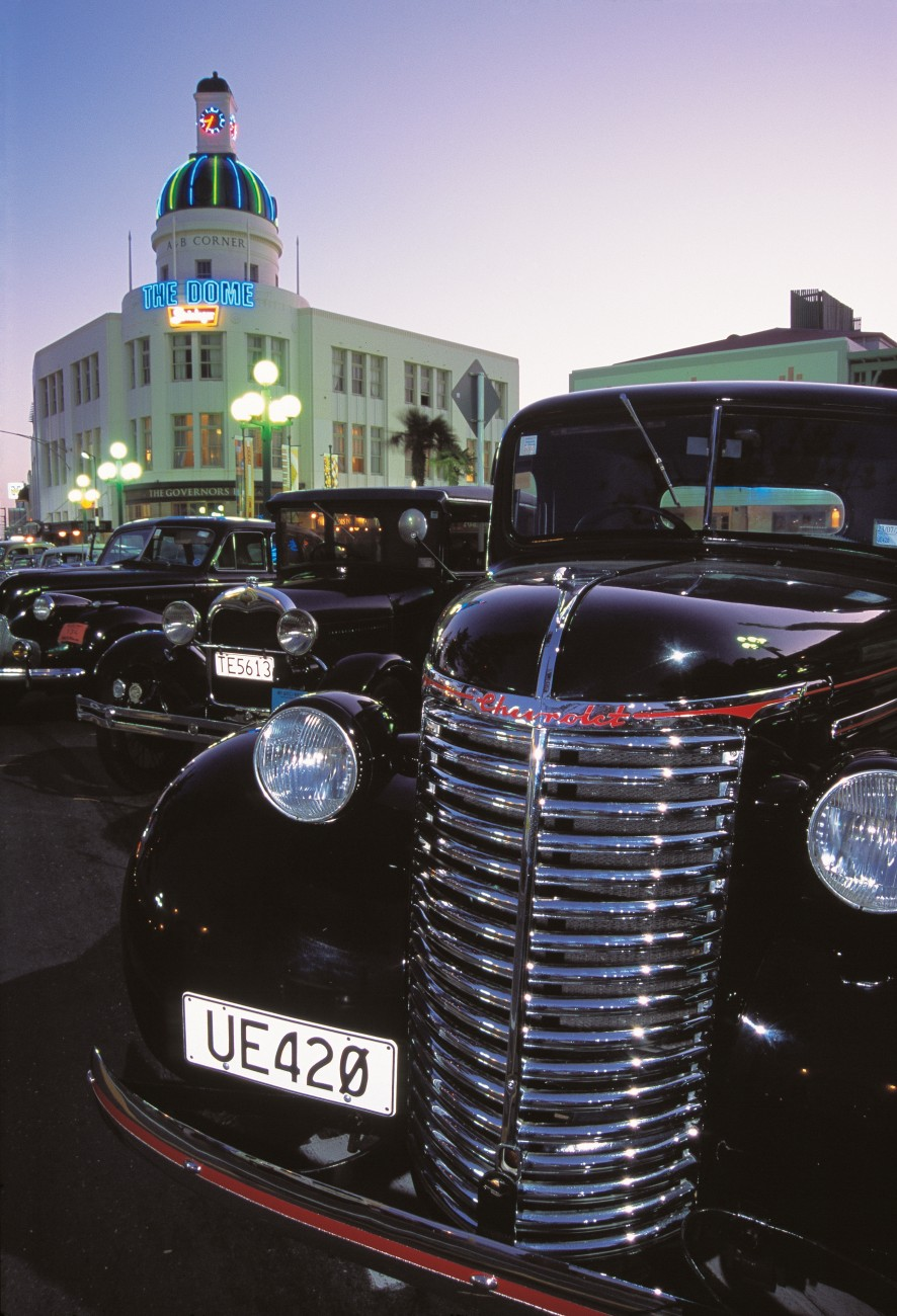 The arrival of close to 200 vintage and veteran cars in Napier for the Art Deco Weekend helps turn back the clock.