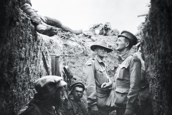 Corpses litter the parapet at Lone Pine, where, in an Allied attempt to divert Turkish forces from Chunuk Bair, 2000 Australians and 7000 Turks perished in a two-day subterranean battle.