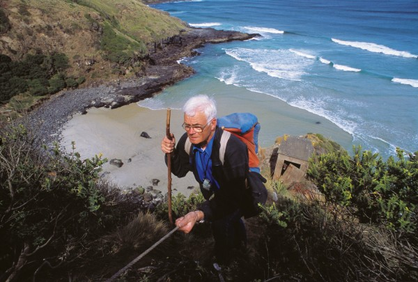The observation of yellow-eyed penguins has occupied Dunedin researcher John Darby for more than two decades. One of his favourite viewing locations is a spur that divides the beach at remote Double Bay, on the Otago Peninsula