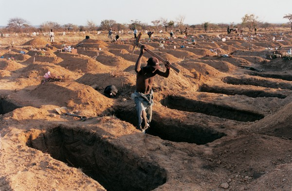 Luveve cemetery, Bulawayo, tells of the calamitous effect of HIV/Aids in Zimbabwe and neighbouring countries. Of the approximately 40 million people infected worldwide, 30 per cent live in southern Africa, home to less than two per cent of the human population.