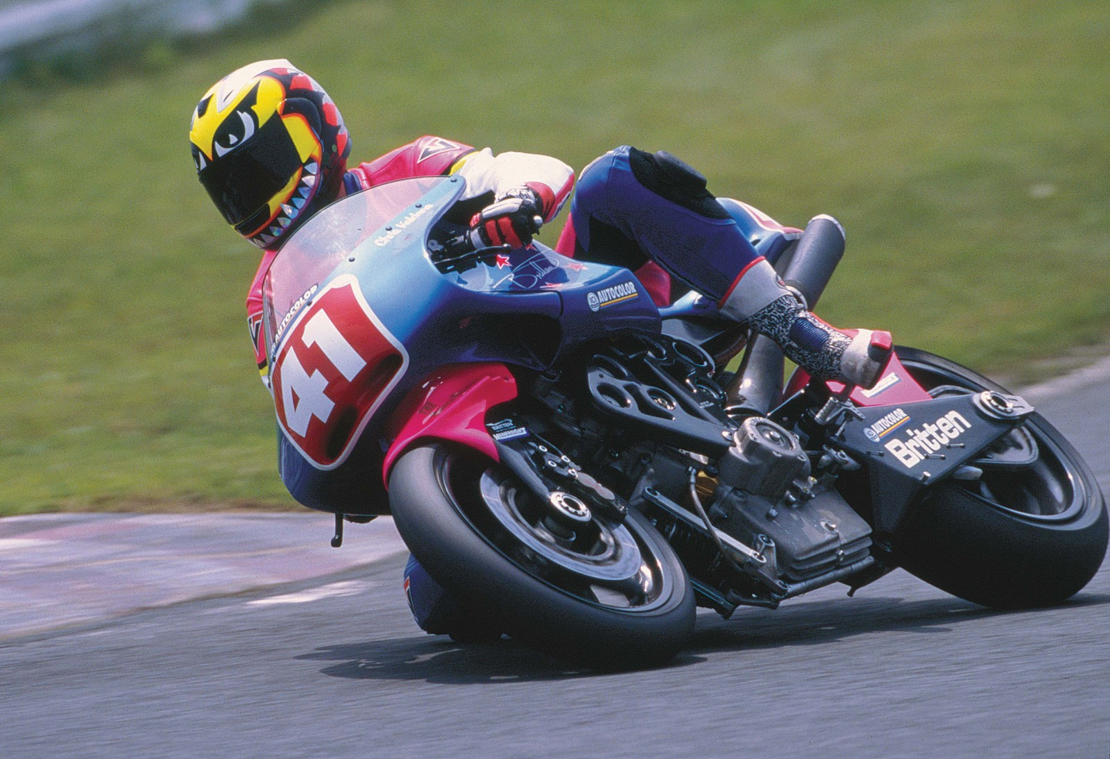 Britten motorcycles did well in a number of races throughout the world - including here at Tsukaba in 1998 several years after John's death.