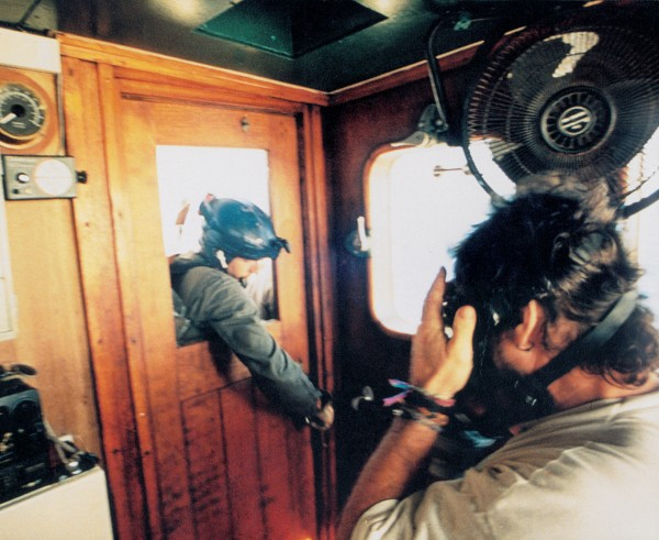 French forces boarded the Rainbow Warrior II in July when it entered the zone and siezed it and the MV Greenpeace on September 1, 1995, before the Peace Flotilla arrived.