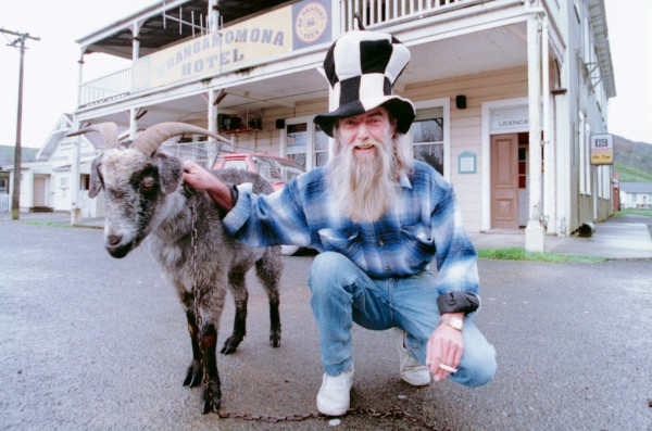 "Billy a.k.a Gumboot (the goat) who outvoted rival candidate candidate and publician Peter ""Muff"" Ray in 1999."