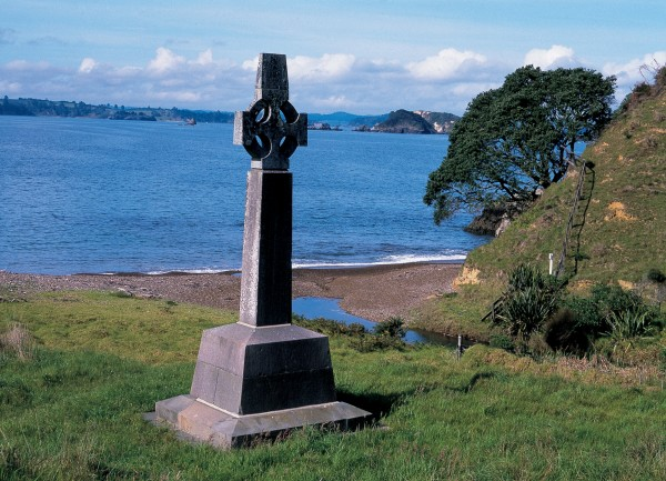 Marsden Cross commemerates the first sermon at Rangihoua, but Marsden went on to establish mission settlements at Kerikeri, Paihia and Waimate North. His influence was also crucial in getting Britain to take New Zealand under its protection. Although he died in May 1838, two years before the Treaty of Waitangi was signed, he would have approved of it.