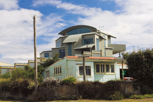 Foxton Beach, in common with much of coastal New Zealand, is being overtaken by modernity, although the changes are not yet as wholesale here as in some areas.