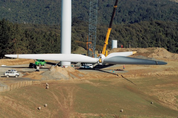 Components for Meridian's Te Apiti wind farm were trucked in from the port of Napier, and since most components are huge, hundreds of trips were made.