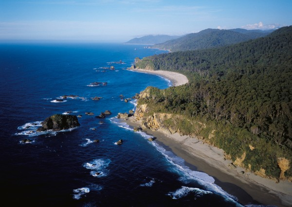 North of Knights Point, the coast is a scenic series of bays separated by rocky headlands and quite different from the long sweeping beaches to the south.