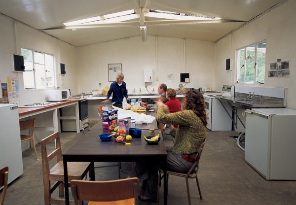 Most New Zealand campgrounds provide a range of facilities for campers, including a communal kitchen-cum-dining room and a lounge with TV and table tennis.
