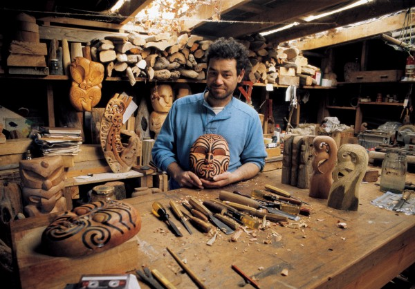 The dispersed nature of tourism means Maori can often generate income where they live.Tony Manuel of Ngati Porou ancestry, sells his carving at a craft shop in nearby Punakaiki on the South Island's West Coast.