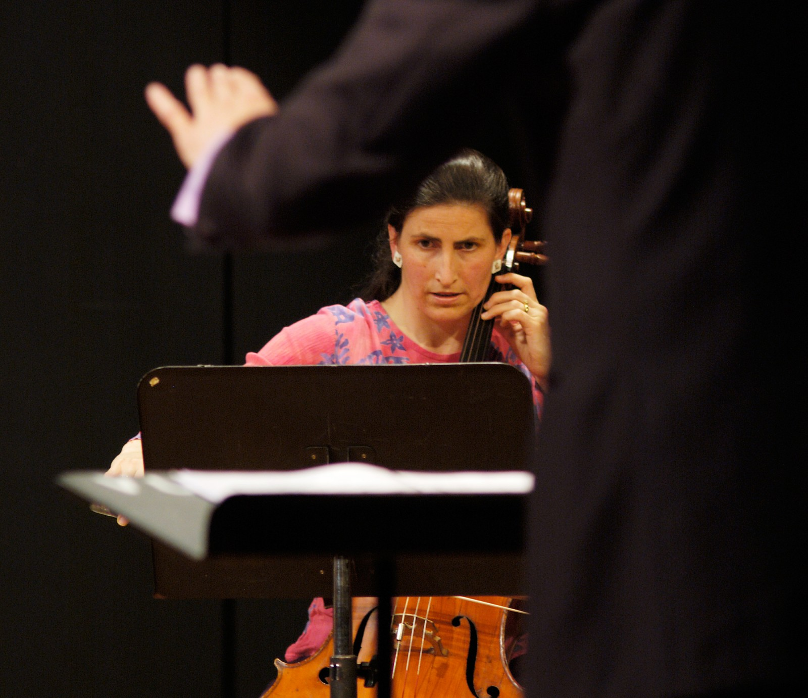 Hamish McKeich, conducting 175 East in one of a pair of performances from their October 2005 programme, has cellist Katherine Hebley under his wing. 175 East, named after Auckland's longitude, is the northern of New Zealand's two professional contemporary music ensembles. The other, Stroma, is based in Wellington.