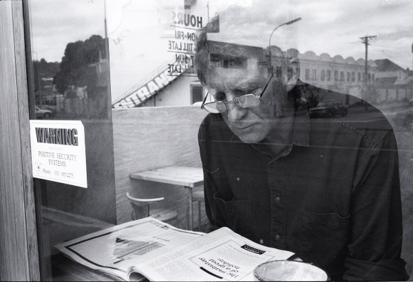 Composer John Cousins turns the formula on its head by having life reflecting on him in a Sumner cafe.
