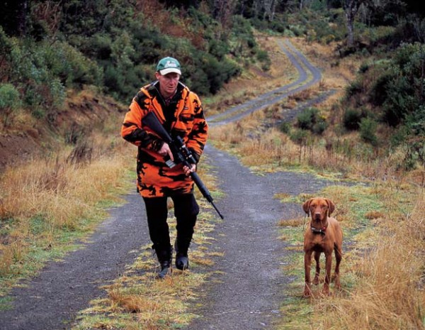 While Rob Wilson of Wild Animal Management usually hunts deer to reduce numbers for Tb