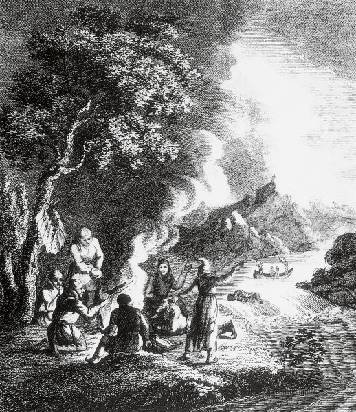 Engraving from Giuseppe Acerbi's Travels through Sweden, Finland and Lapland, 1802