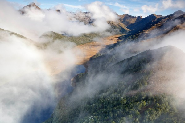 """Lake Orbell in Fiordland's Murchison Mountains is ground-zero for the only wild takahe population on the mainland. It was here that Geoffrey """"Doc"""" Orbell rediscovered, captured and filmed the birds that until 1948 had been considered extinct."""