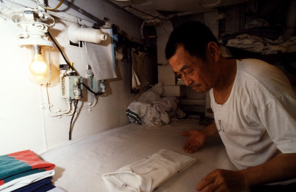 The traditional Chinese laundryman Mr Cheung is the only civilian aboard Southland, and he knows far more than how to wash and iron uniforms. His culinary feats inspire awe (the galley boss often eats in the laundry) and his medical prowess and massage skills are legendary.