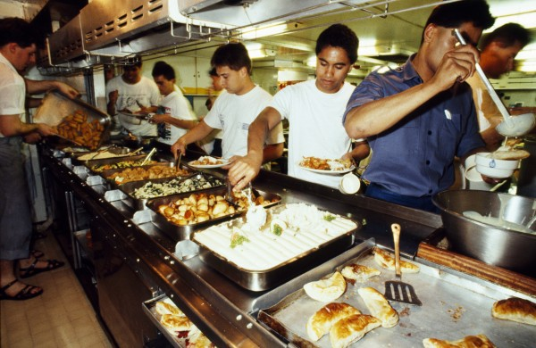 Commander Anson might get a few extras, and officers in the Wardroom have steward service, but everyone eats from the same menu on Southland. Lunch and dinner typically offer a choice of three meat dishes; in a community based on routine and regimentation, variety in cuisine is very much the spice of life.