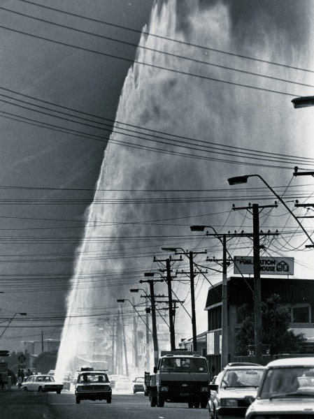 Most city people don't think about their water supply until something goes wrong. A burst water main in Petone's main street in 1985 drew everyone's attention-and showed how much pressure is exerted by the head of water in Wellington's reservoirs.