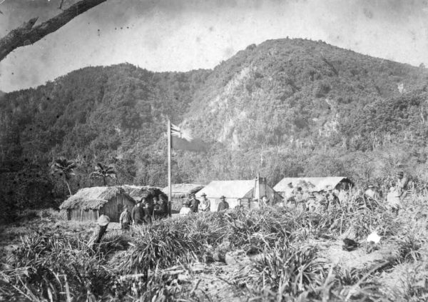 At an annexation ceremony on August 17, 1887, the New Zealand government hoisted the flag over Raoul Island (then known as Sunday Island), depriving Thomas Bell of his assumed ownership of the island. Shortly after annexation, the island was subdivided and offered for lease to prospective farmers.