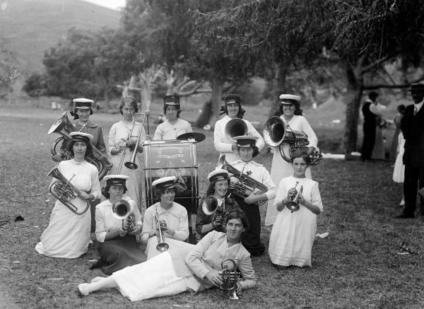 These WCTU women have formed a brass band to assist in getting the message across. The abuse of alcohol was a women's issue, as colonial men commonly drank their earnings away in the pubs, and drink was associated with violence in the home. Another casualty which offended all the ideals of pure, womanly behaviour was the drunken woman. Colonial newspapers regularly reported on court cases involving inebriated women.