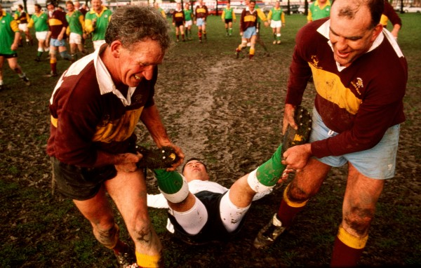 """I will not remember the score at the end,"" states Rule Two of the Golden Oldies commandments, but it is more likely to be Rule Six: adhering to a ""philosophy of fun, irreverence, and self-indulgence"" that is being honoured here as the ref is ""helped"" from the ground. Despite concerns over the impact of professionalism on the game, rugby shows no sign of lying down just yet."