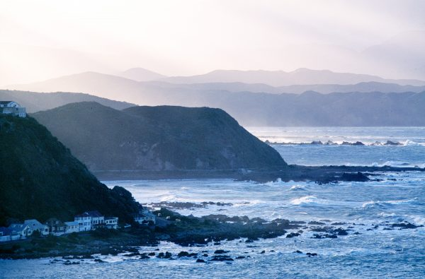 Southerly swells, built over thousands of kilometres of unobstructed ocean, hit sledgehammer blows on the exposed shorelines of Island and Houghton Bays, suburbs of Wellington. Wind gusts of more than 60 kph strike the city on an average of 173 days each year, compared with only 35 days a year across the Strait in Nelson.