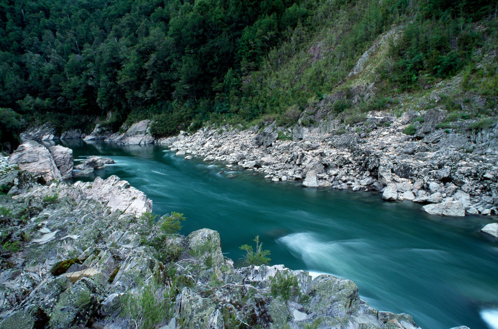 "For 75 of its 170 kilometres the Buller River runs through steep gorges, taking on various shades of colour from concrete-grey to jade green. Guided by four Maori, surveyor Thomas Brunner made the first European descent of the river's course in 1846-47. The trip took 170 days and was arguably the most gruelling journey in the exploration of New Zealand. A typical entry in his diary reads: ""May 3rd, 4th and 5th. Continual heavy rains. Nothing to live on but a few rats."""