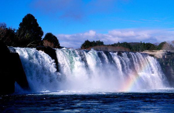 The Maruia Falls, on one of the Buller's many substantial tributaries, were formed when the Murchison earthquake rent the land and diverted river's in 1929,