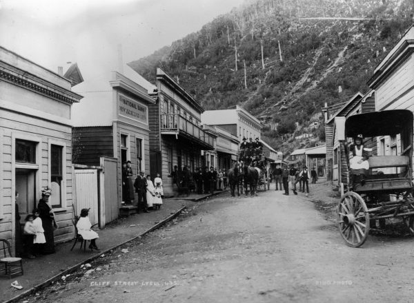 The township of Lyell, of which no vestige now remains, flourished for two or three decades following the discovery of gold in 1862. Alluvial gold quickly played out, but gold was present in the quartz of nearby reefs and won with the aid of a stamper battery.