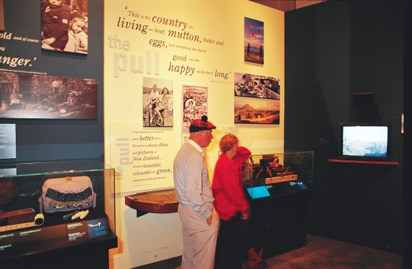 Whether we see ourselves as people of the land or people of the treaty, our stories are Te Papa's raw materials. At the entrance to the Passports exhibit (above), visitors consider whether they would have been willing to sacrifice home and family ties for an uncertain future in a distant land.