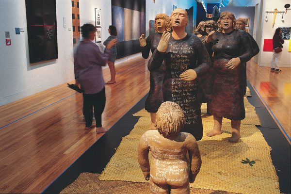 A national museum is the sort of place where a visitor should be able to experience the power of sculpture like Nga Morehu (The Survivors), a procession of eight terracotta women by Shona Rapira Davies, bearing words describing the hardships and abuse Maori women have had to endure. But a virtual bungy jump? Like taking the real thing, here, too, you have to pay, and the money helps fund the museum (entry to Te Papa is free).