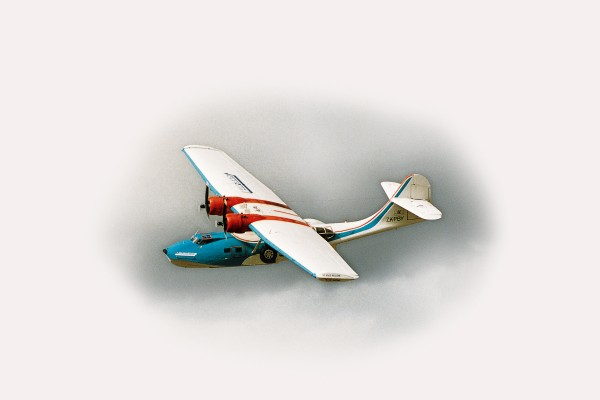 When the Auckland Catalina Club bought PBY, she was painted in Peter Stuyvesant colours and being used for tourist transportation in Zimbabwe.