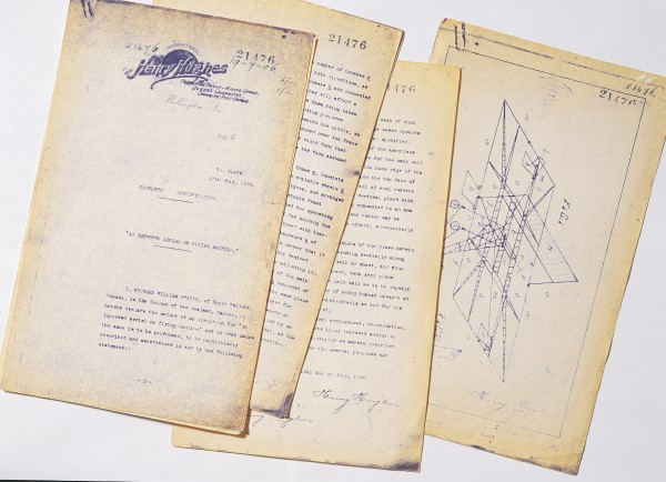 """Detailed description of the aircraft appears in his July 1906 patent application for """"An Improved Aerial or Flying Machine"""". Pearse allowed the patent to lapse four years later."""