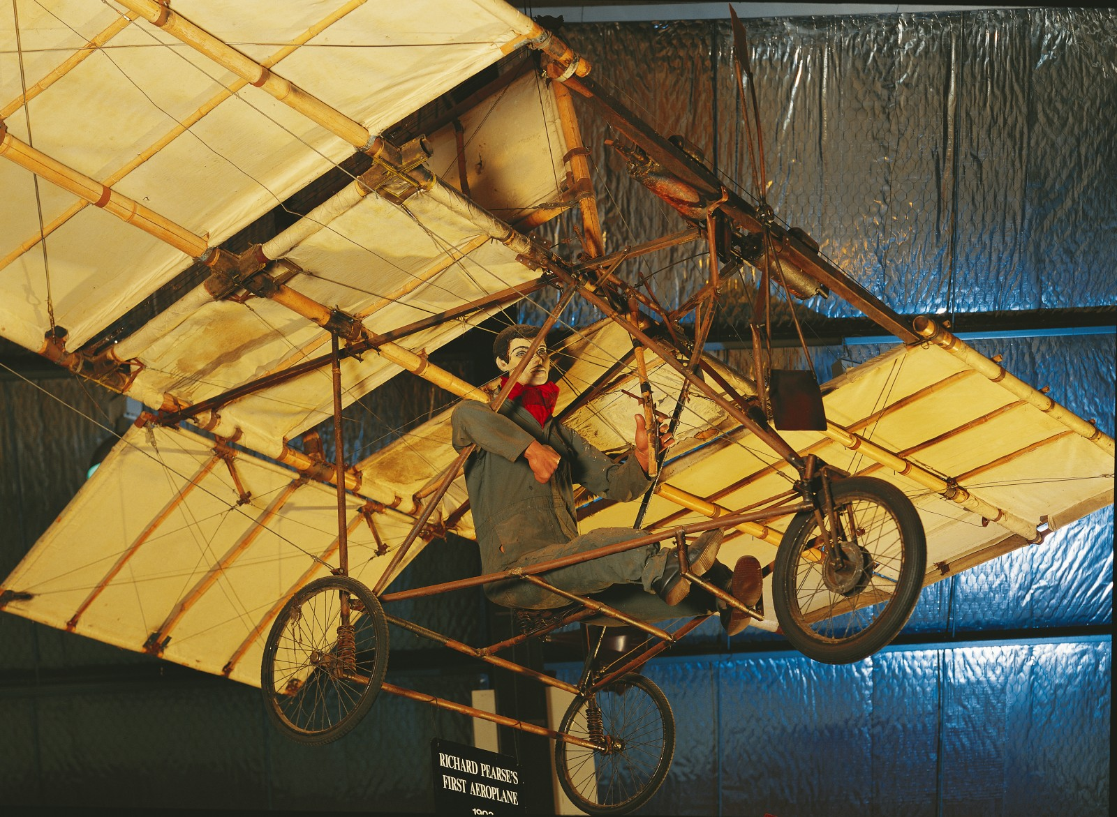 Only fragments of Pearse's original plane survive, but a number of replicas, such as the one at Auckland's Museum of Transport, Technology and Social History, demonstrate the rough yet ready nature of his backyard technology.