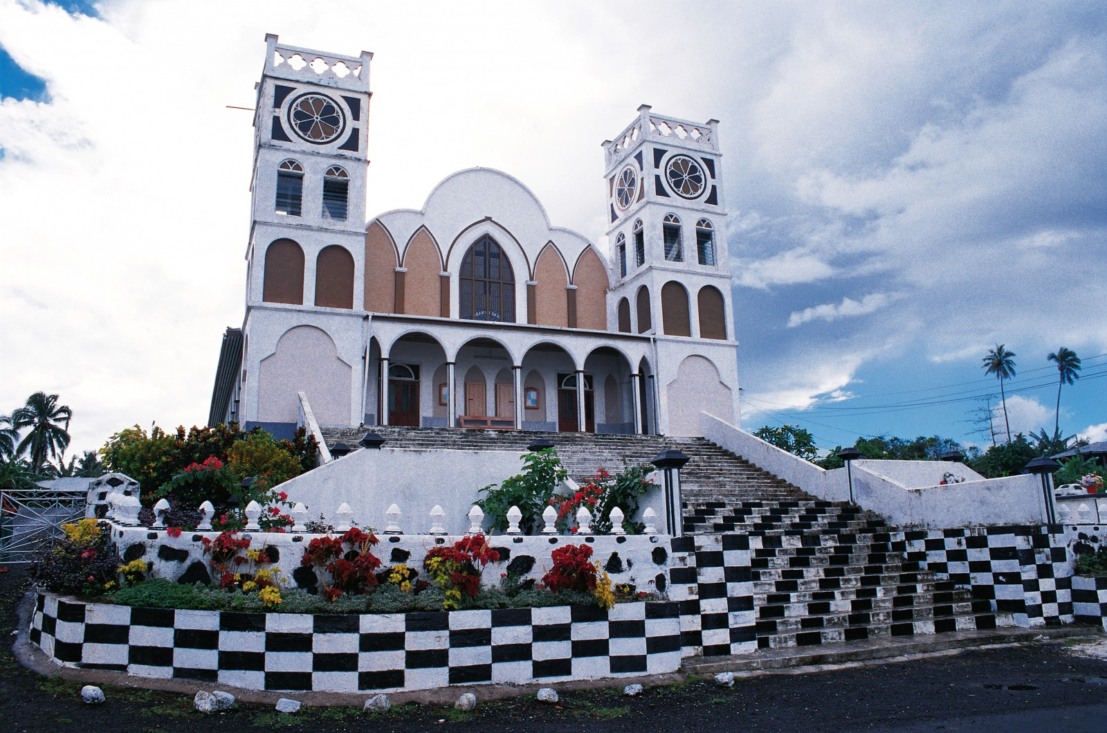The grand construction and rich decoration of the churches of Samoa speak not just of the reverence in which these focal points of the community are held, but also of inter-village rivalry to be the most generous supporters. It is a matter of honour for a village to donate more than its neighbour.