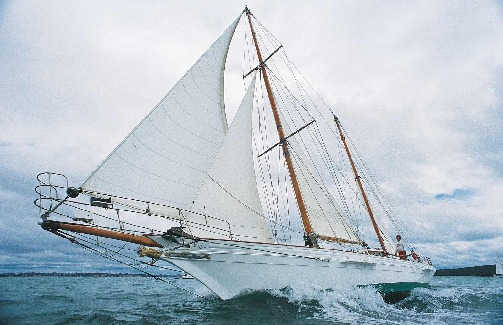 Her opponent on this occasion—the sleek-lined Viking—was built of heart of kauri in 1893, and still sails the Hauraki Gulf more than a century later.