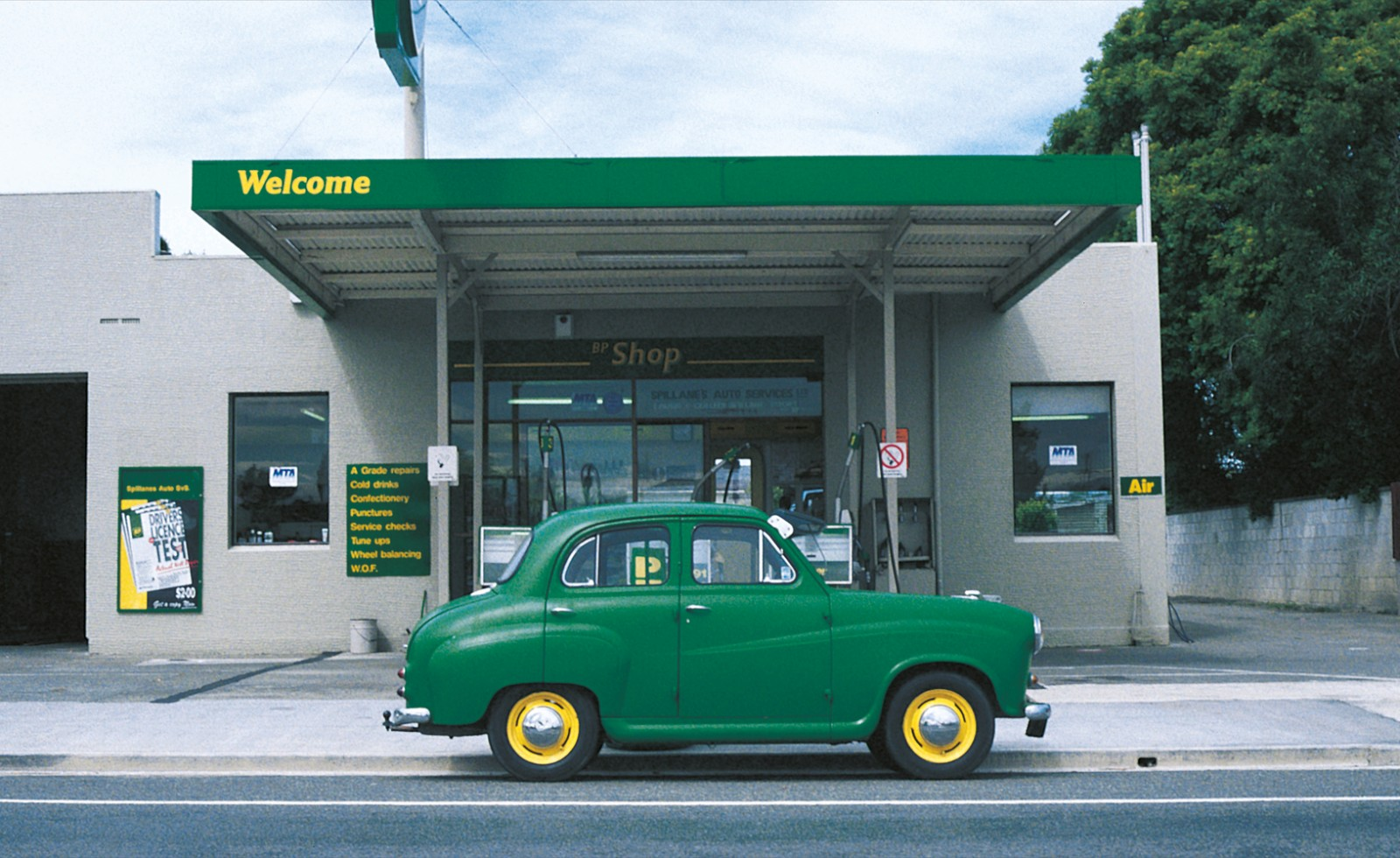 The colour-coordinated Austin A35 of former Temuka service station owner Laurie Spilliane was his statement of vehicular pride.