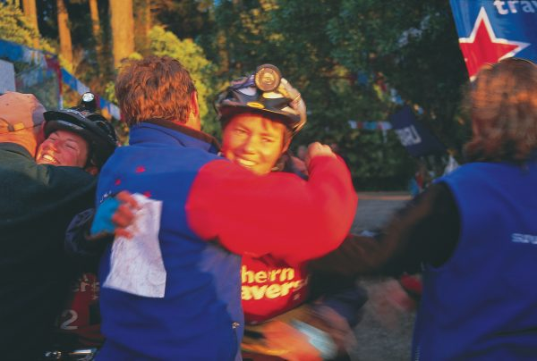 At the finish line, all competitors receive a hero's welcome, but for Untouchedworld.com, the first all-women team to complete a full Southern Traverse course, victory is especially sweet.