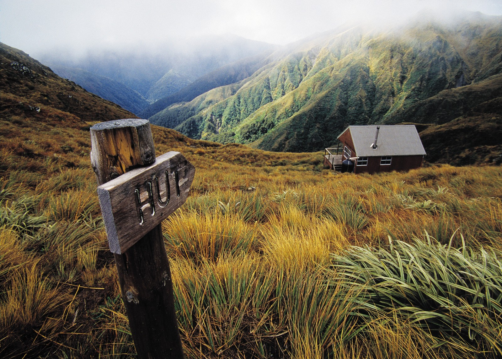 Tarn Ridge Hut, Tararua Range.